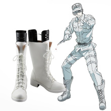 New Cells at Work! Hataraku Saibou White Blood Cell Cosplay Boots Anime Shoes Custom Made
