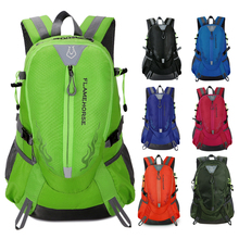 Flame Horse Outdoor Hiking Backpack Waterproof Nylon Men Women Bag Unisex Travel Bag Mountain Camping Climbing Rucksack