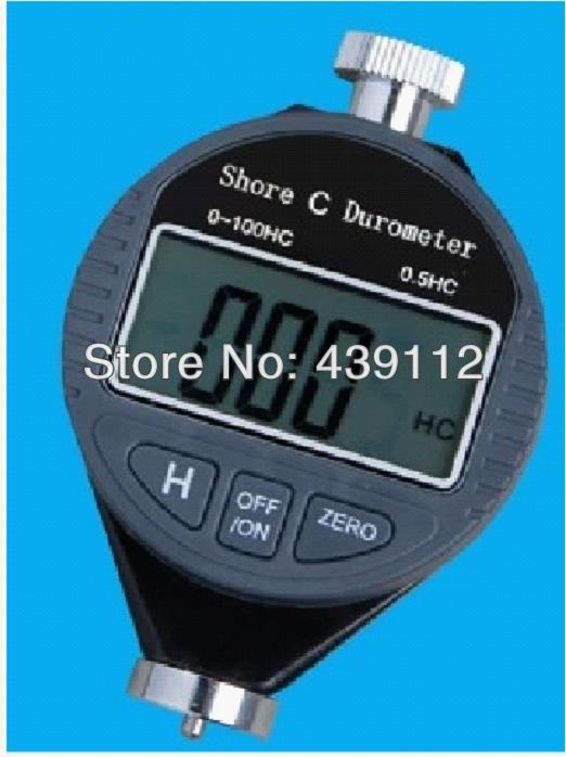 Durometer 0~100HC Dial Scale Rubber Portable Handheld Shore C Digital LCD Display Hardness Meter Tester  цены