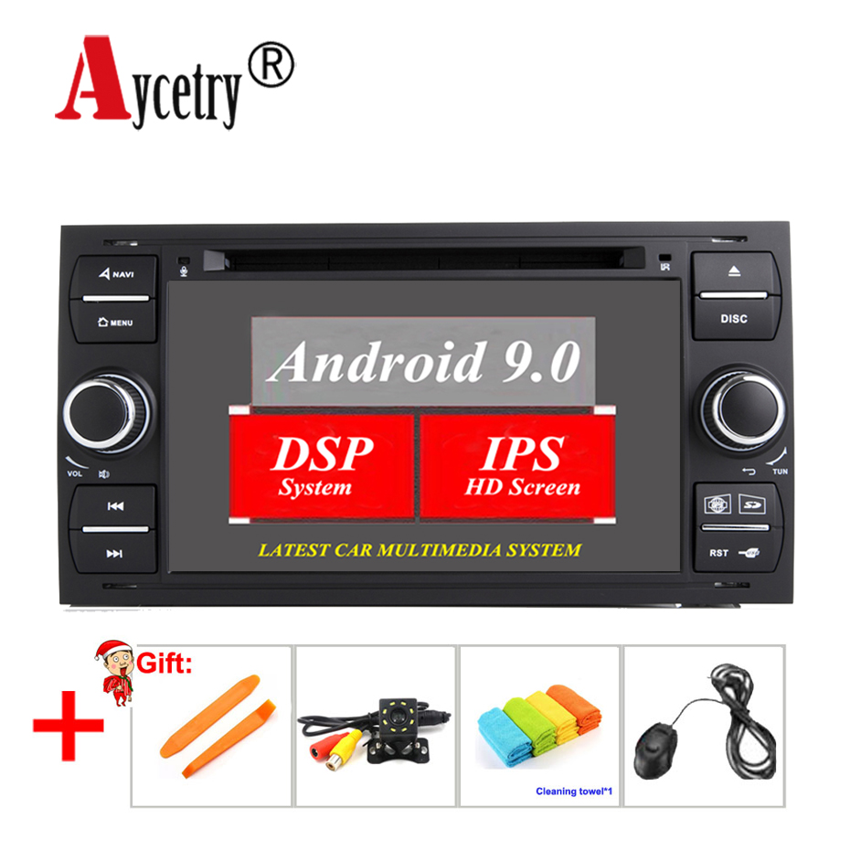 Aycetry! For Ford Mondeo Focus Transit C-MAX S-MAX Fiesta Car dvd player 2 din android 9.0 radio stereo audio multimedia DSP IPS