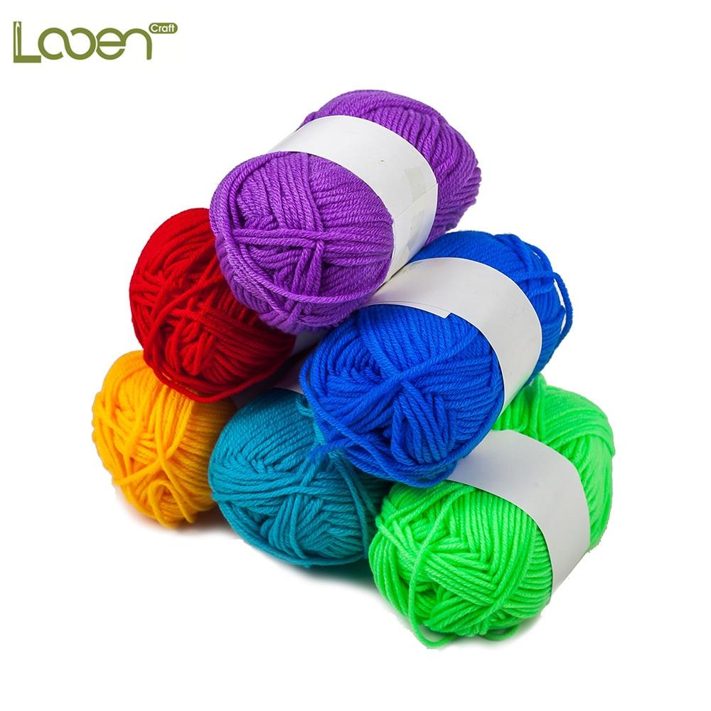 Hand Knitting Yarn : Looen diy hand knitting yarns for crocheting soft