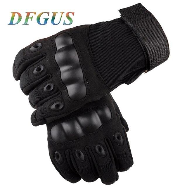 Men's Tactical Gloves Outdoor Sport Military Full Finger Mittens Combat Carbon Fiber Tortoise Shell Guantes Men Tactical Gloves 1