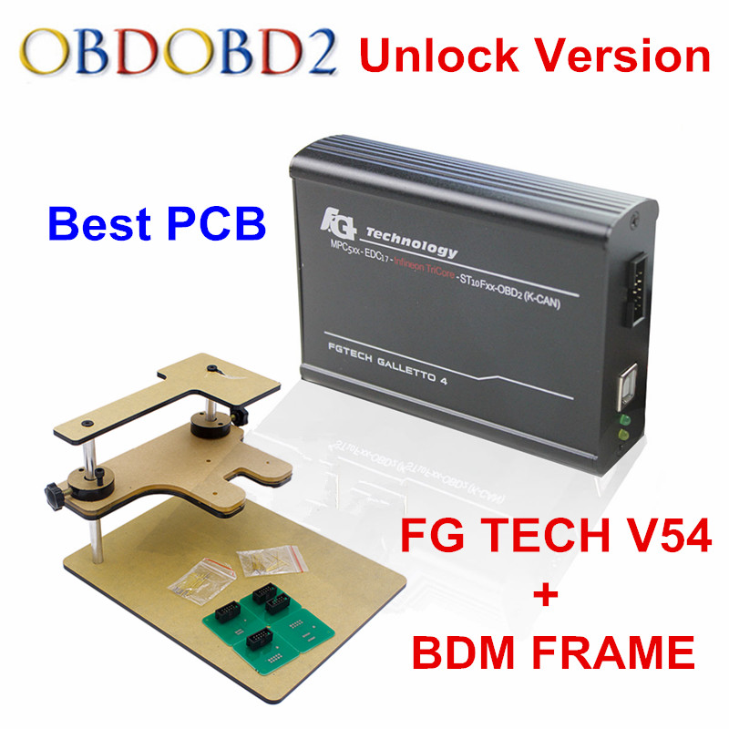 Best Match FG TECH V54 + BDM Frame Adapter FgTech V54 Galletto 4 Master ECU Chip Tuning Programmer Free Shipping best quality fg tech v54 auto ecu chip tuning programmer fgtech galletto 4 v54 master bdm obd multi languages free ship