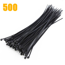 Hot 200 / 500 1000 PCS Cable Ties Black White Plastic Length 200mm Width 1.9mm Keep All Messy Cables Neatly In One Place