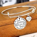 2017 New Kind Happy Strong Thankful Brave Bracelet Friend Gifts Souvenirs Party Dangle Gifts Love Girls Bracelets Jewelry Charm