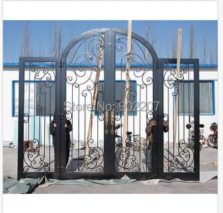 Custom Design Wrought Iron Entry Door Manufacturer Model Hench Ied11