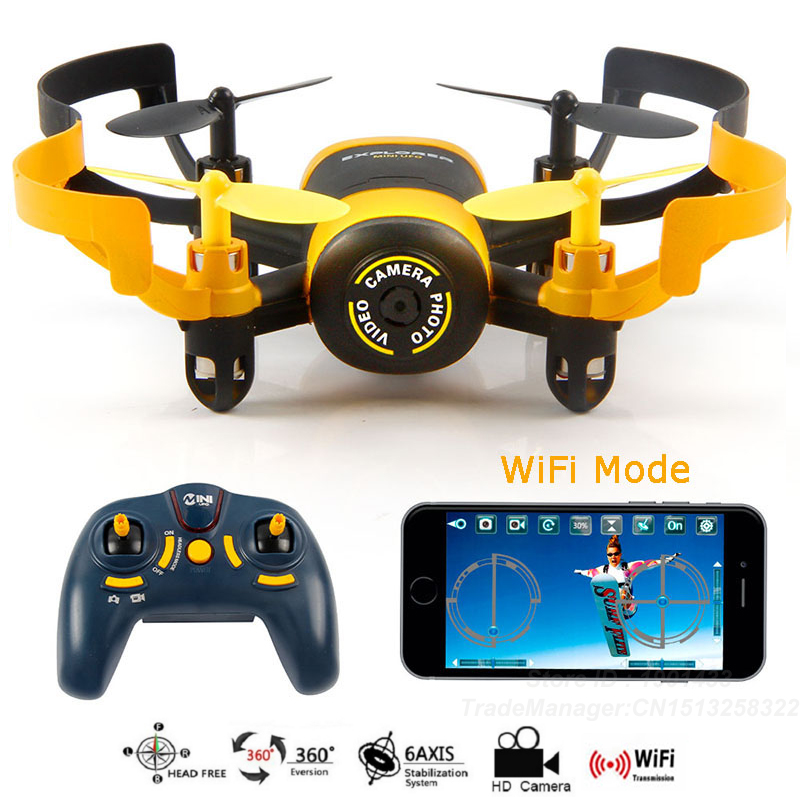 2016 WIFI FPV Drone With WIFI Camera JXD512W 2 4Ghz Mini UFO One Key return Headless