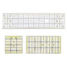 3 Stks/set Vierkante Rechthoek Clear Quilt Quilten Heerser Patchwork Naaien Ruler Tool Set Craft Diy