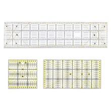 3 ピース/セット正方形、長方形クリアキルトキルティング定規パッチワーク縫製定規ツールセットクラフト diy