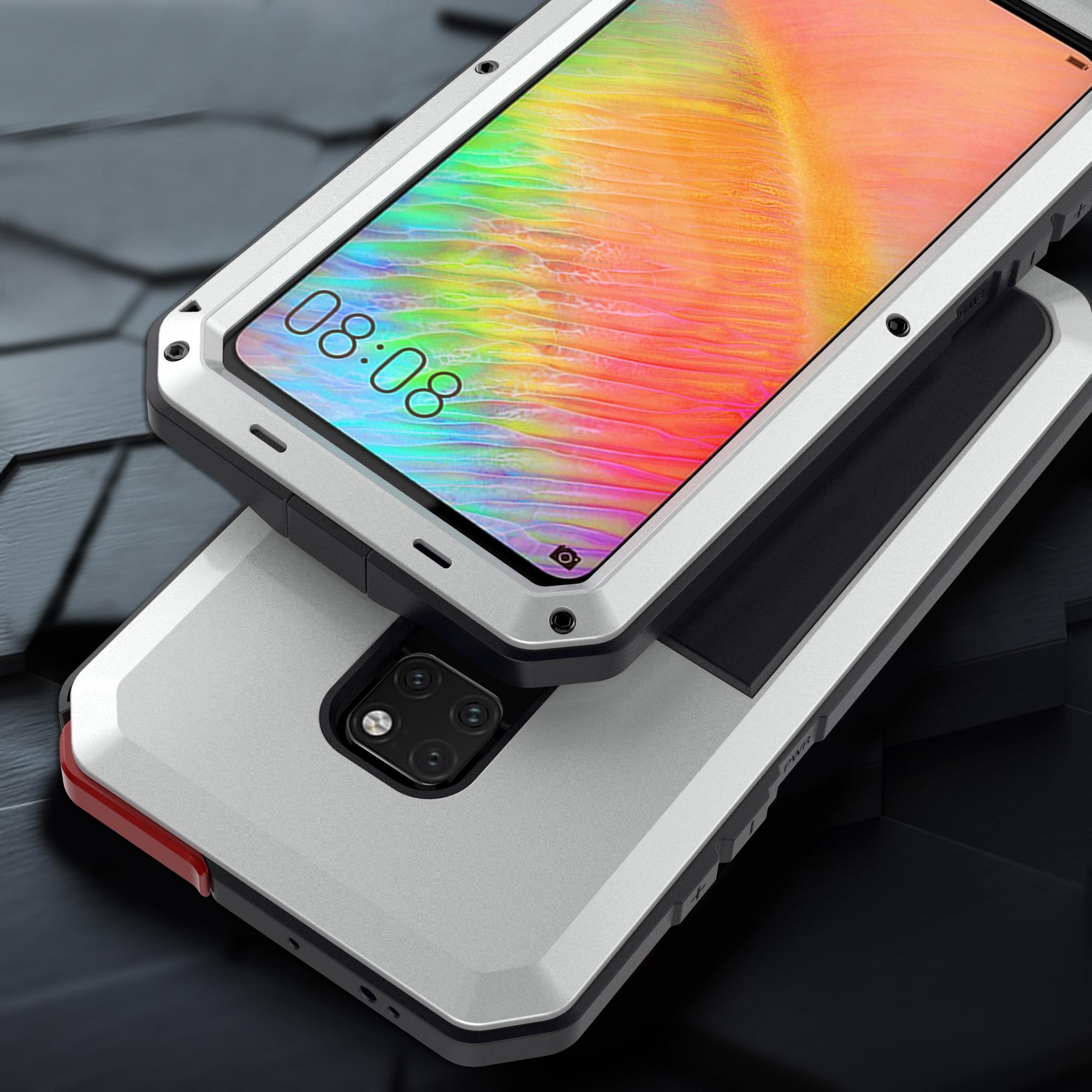 Сверхпрочный защитный чехол Doom, металлический алюминиевый чехол для телефона Huawei Mate 20 Pro P30 Pro, ударопрочный пылезащитный чехол со стеклом