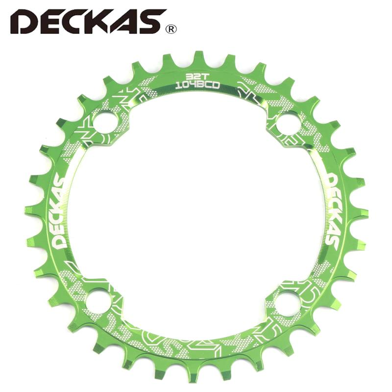 DECKAS 104BCD perfect circle elliptical positive and negative tooth disk single disk mountain road bicycle round oval disk 32T in Bicycle Crank Chainwheel from Sports Entertainment