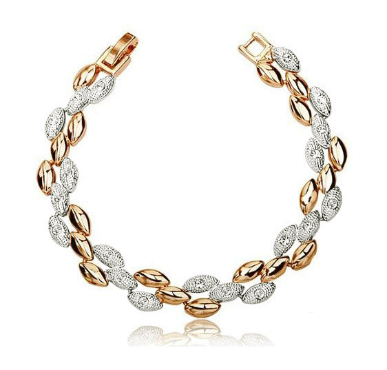 AAAA+ rhinestones top quality Golden silver-2 colors Wheat charms Bracelets party women fashion jewelry promotion free Shipping