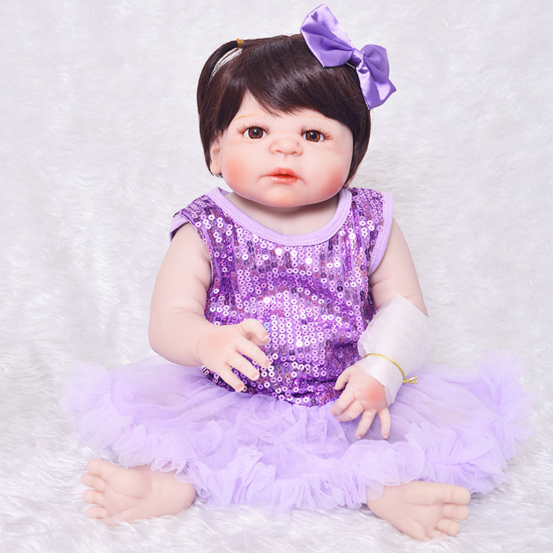 23 Alive Silicone Baby Dolls Lifelike Real Touch Reborn Baby Dolls Handmade Vinyl Toddler Infant Dolls Best Cheap Toys for Girl 23 russian silicone reborn baby girl full body vinyl dolls touch real baby dolls lifelike real hair new 2017 kids playmates