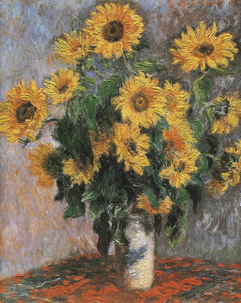Hand Made Reproduction Sunflower By Claude Monet Famous Oil Painting On Canvas Handpainted Flower Paintings For Wall Decoration