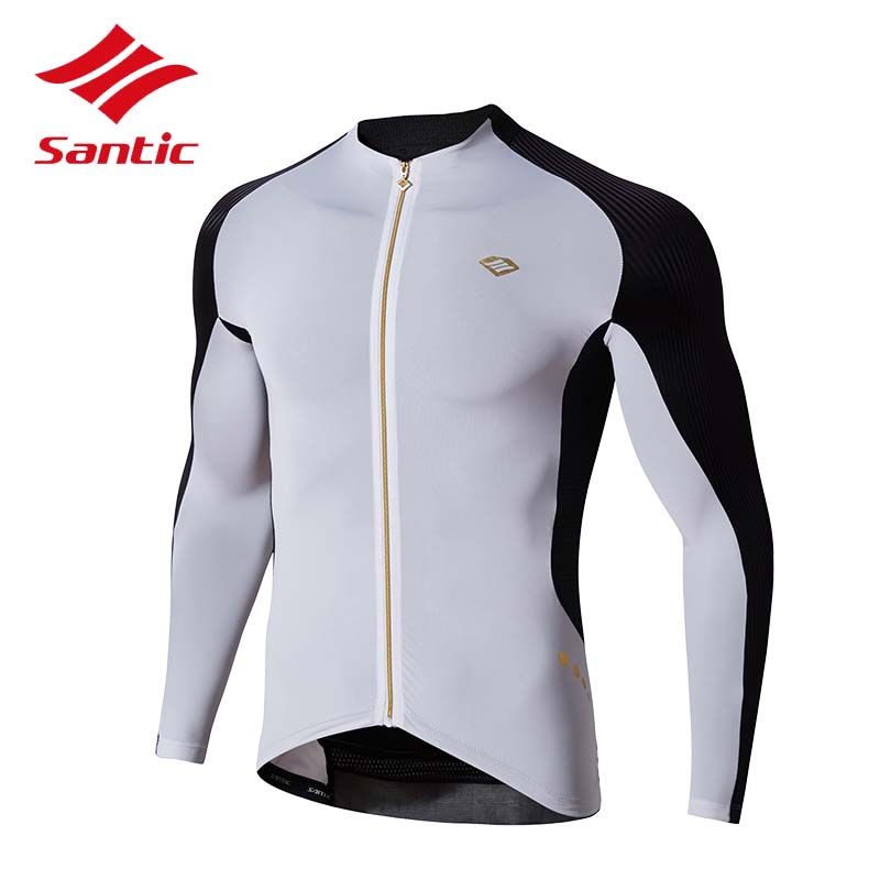 Santic 2017 Cycling Jersey Men Pro Racing Bike Clothing Tight Shirts MTB Road Bicycle Jersey Long Sleeve Quick Dry Ropa Ciclismo дефлектор капота artway citroen c4 10 1 шт