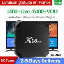 X96 мини IP ТВ Франция коробка 2 г 16 г S905W Android 7,1 QHD ТВ 1 год IP ТВ подписка X96mini IP ТВ арабский голландский Бельгия Франция IP ТВ