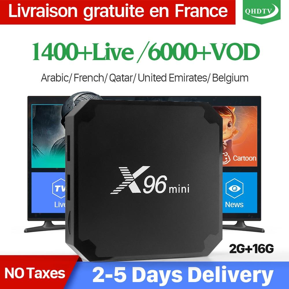 X96 mini IPTV Frankreich Box 2G 16G S905W Android 7.1 QHDTV 1 jahr IPTV Abonnement X96mini IPTV Arabisch Dutch belgien Frankreich IP TV