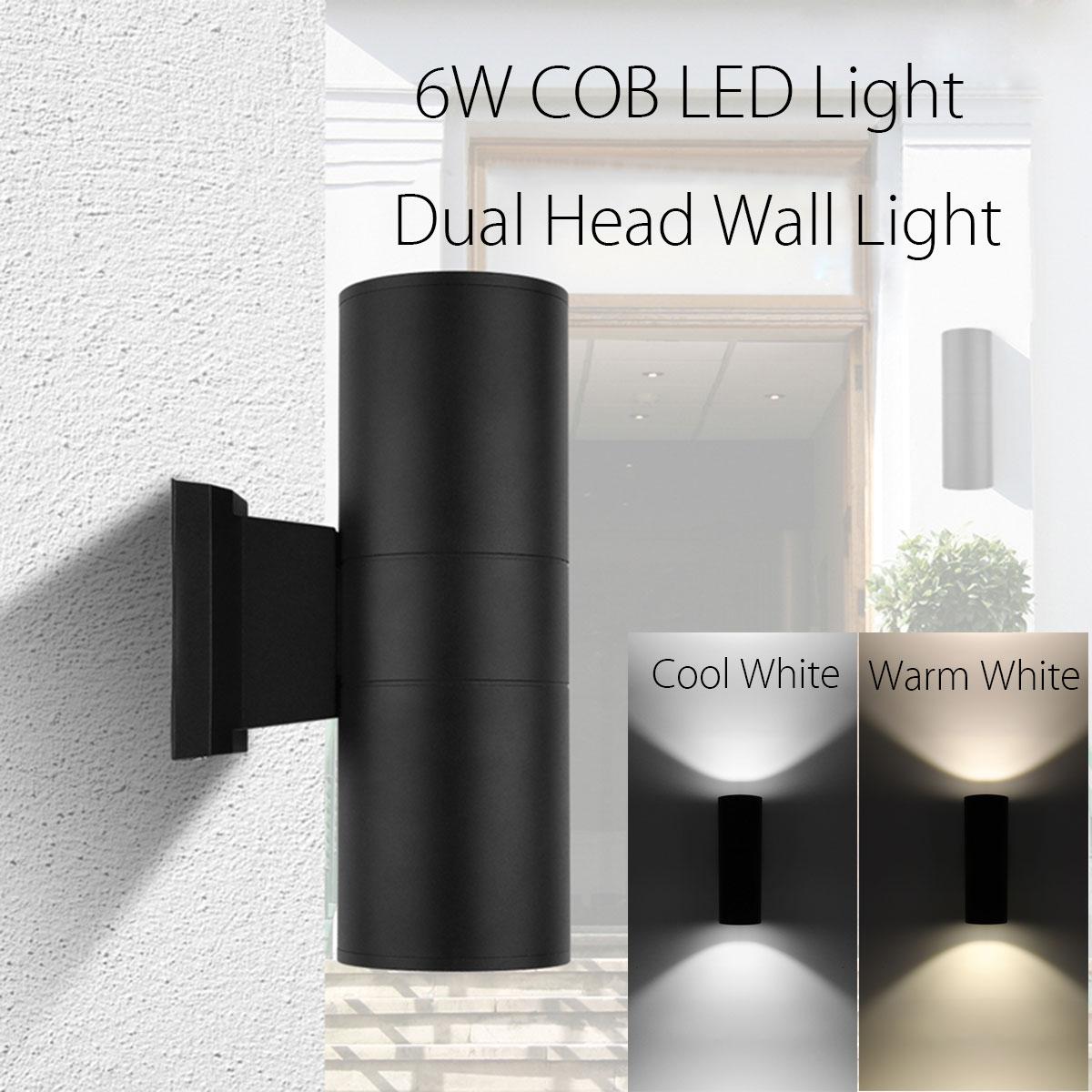 Smuxi Wasserdicht 6 Watt Up Down Dual-head Cob FÜhrte Stablicht Zylinder Wandleuchte Innen Außenbeleuchtung Led-balkenleuchten