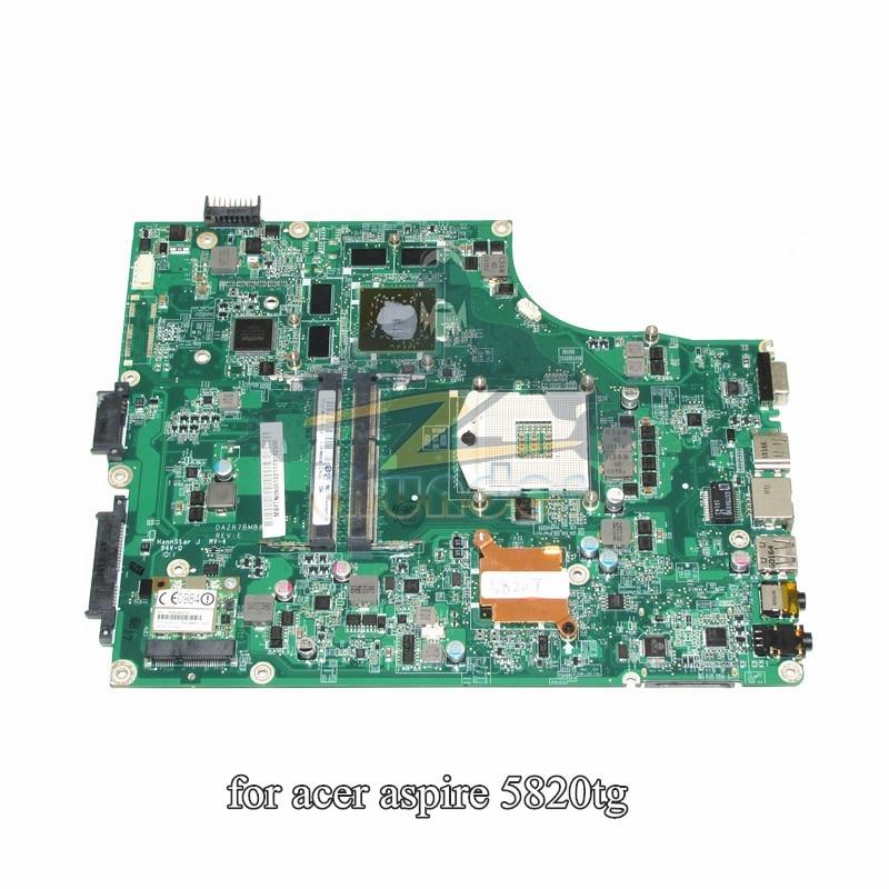 MBPTN06001 MB.PTN06.001 DAZR7BMB8E0 for acer aspire 5820TG laptop motherboard hm55 ATI HD5650 DDR3 nokotion laptop motherboard for acer aspire 5820g 5820t 5820tzg mbptg06001 dazr7bmb8e0 31zr7mb0000 hm55 ddr3