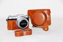 Nouveau Rétro Vintage Camera Case En Cuir Sac Pour Panasonic Lumix GF7 Caméra Brun PU Sac Photo En Cuir Avec Sangle Libre