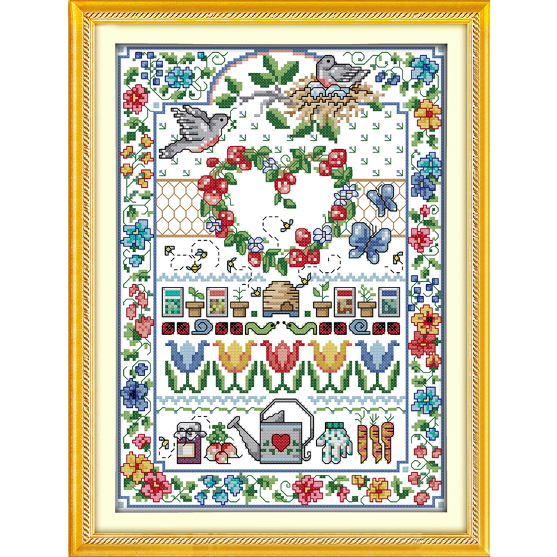 Package Arts,crafts & Sewing Helpful Ture Love Chinese Counted Cross Stitch Patterns Kits Dmc Cross Stitch Fabric Cross-stitch Paintings Diy Set Home Decor