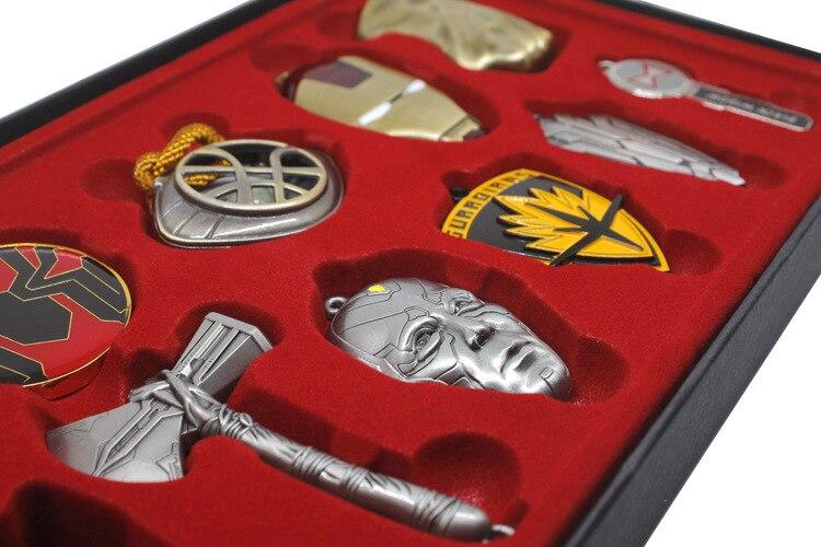Винтажные игрушки Marvel, Мстители, бесконечность, война, перчатка Таноса, бесконечность, рукавица, брелки, маска Железного человека, Халка, косплей, брелок, детский подарок