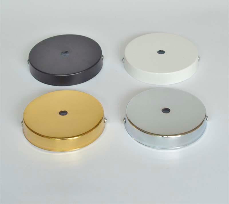 D100mm White Black Chrome Gold Ceiling Plate Canopy For Diy Pendant Light