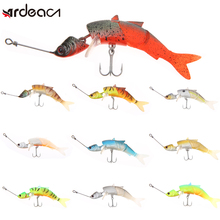 Soft lure 3 jointed swimbait seawater pike Lures isca Artificial Crankbait JIG wobblers Fishing ARDEA