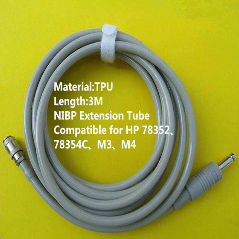 Free Shipping NIBP Extension Tube NIBP Hose Tube for Philips M3 M4,78352 Monitor,NIBP Cuff Connector TPU 3MFree Shipping NIBP Extension Tube NIBP Hose Tube for Philips M3 M4,78352 Monitor,NIBP Cuff Connector TPU 3M