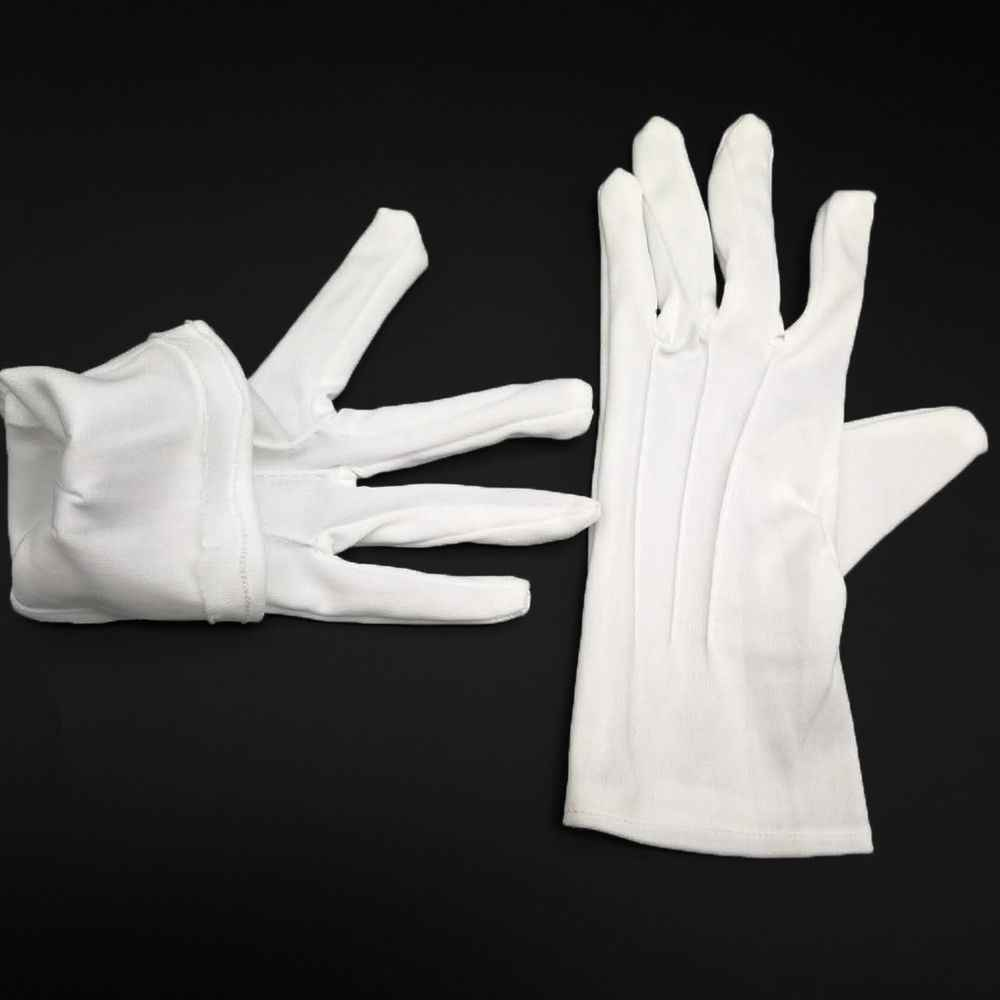 164f2567c3 1 Pairs White Formal Gloves Tuxedo Honor Guard Parade Inspection Collection  Serve