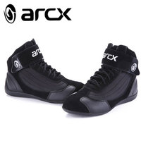 ARCX Motorcycle Boots Moto Riding Boots Genuine Cow Leather Motorbike Biker Touring Riding Ankle Shoes Motorcycle Shoes