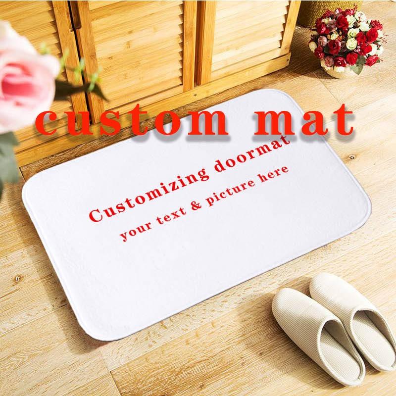 40x60cm Doormat Custom Mat Anti-slip Door Mat, Printed Your Design Picture Photo, Customized Carpet For Bath Door Living Room