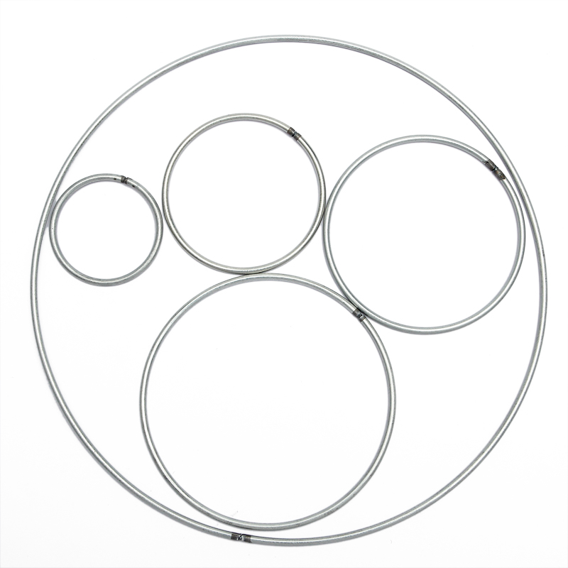 10pcs 35-400mm Dream Catcher Reve Circle Rings Findings Hanging Round Circle Metal Pour Attrape Reve Net Jewelry Keychain DIY
