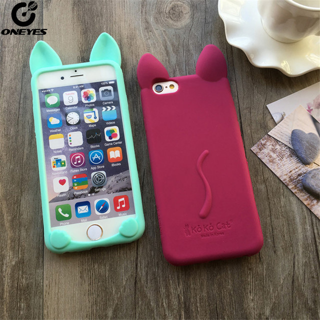 f6014536cfb673 Fashion Cute Case For iphone 5s 5 se 6 6s 7 8 Plus Soft Silicone Cartoon Cat  ear Phone case For iphone 7 case For iphone X capa