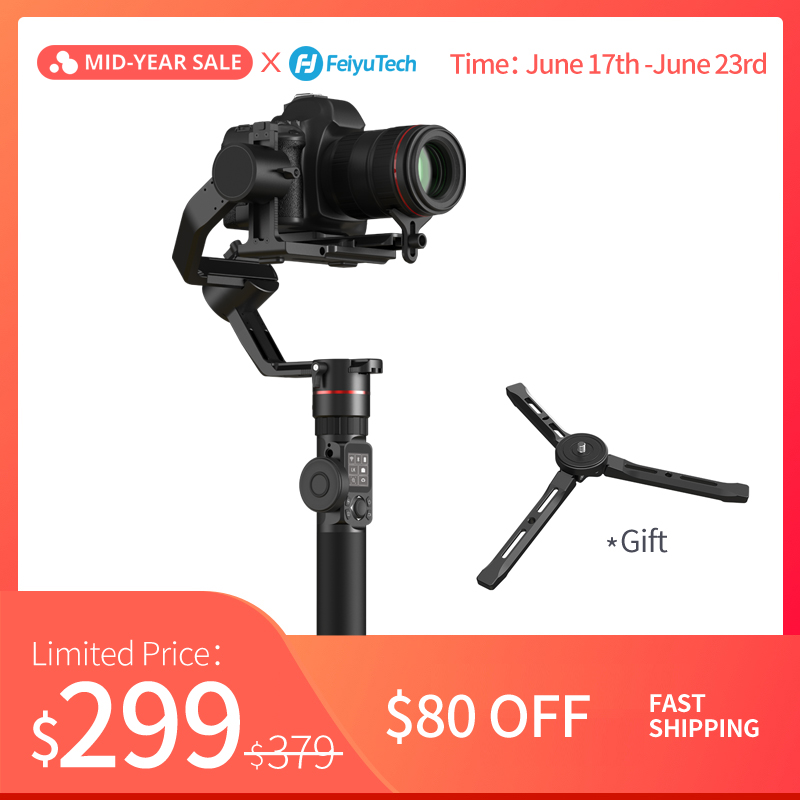 FeiyuTech AK2000 DSLR Camera Stabilizer Handheld Gimbal with Focus Ring for Sony Canon 5D Panasonic GH5 Nikon 5D 2.8 kg PayloadFeiyuTech AK2000 DSLR Camera Stabilizer Handheld Gimbal with Focus Ring for Sony Canon 5D Panasonic GH5 Nikon 5D 2.8 kg Payload