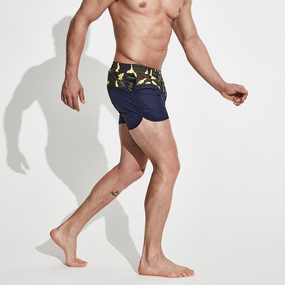 Men's   Short Board shorts Multifunctional Sports Swimwear Beachwear Camouflage Patchwork