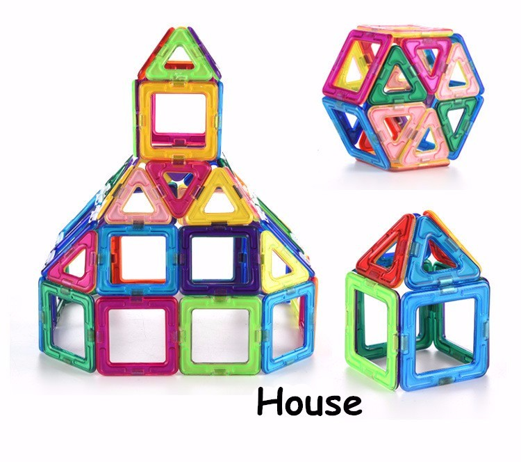 23PCS Big Size Magnetic Designer Construction Enlighten Assembly Building Blocks Toys Kid Educational DIY Plastic Technic Bricks (4)
