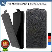 Цена по прейскуранту завода, высокое качество нового стиля флип PU кожа case открыть вверх и вниз для Micromax Q465 Canvas Сок 4, подарок