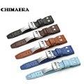 22 мм ремешок для часов  черный  коричневый  синий  Кроко  Воловья кожа  итальянская натуральная кожа  часы на заклепках  ремешок для IWC Big Pilot  б...