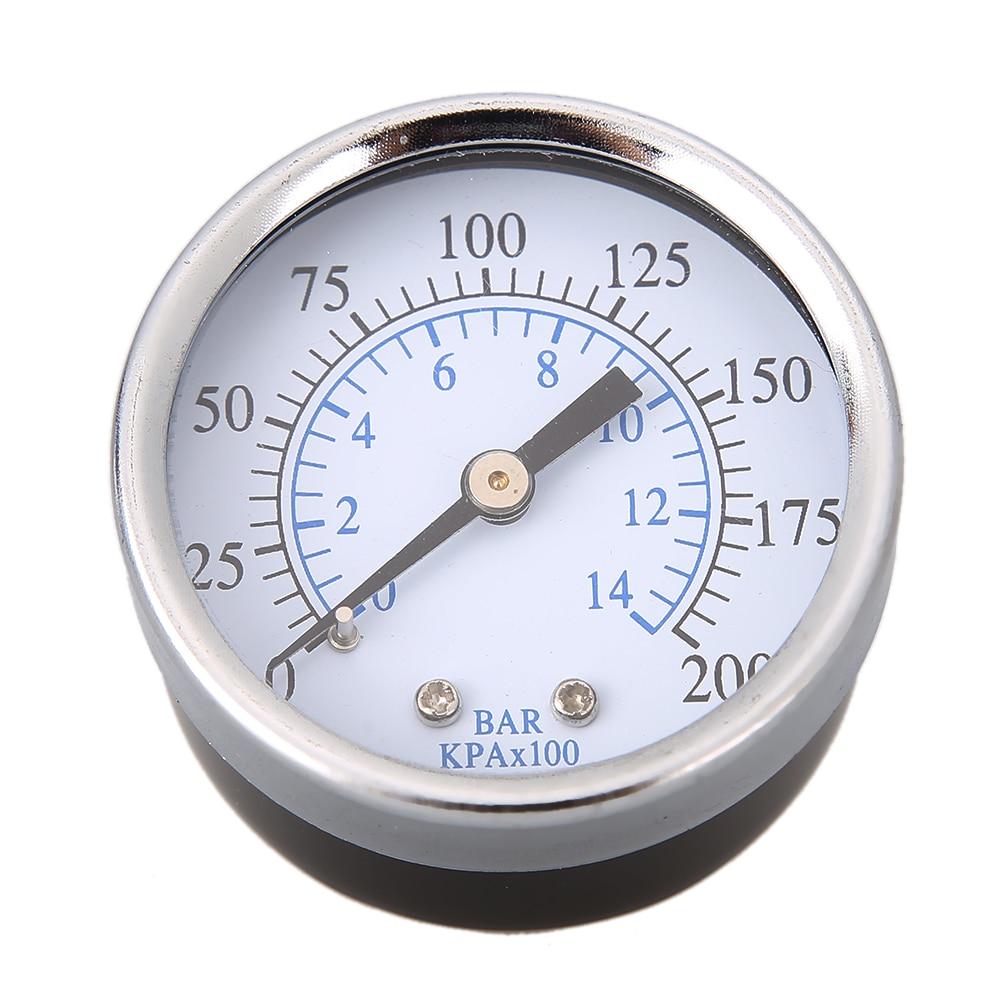 0-200 PSI back Mount Air Compressor Pressure Gauge 2 Face 1/4 Male NPT Pipe Threads Air Compressor Hydraulic Pressure Gauge y 150 150mm radial mount 0 1 25mpa air compressor pressure gauge dial diam pneumatic