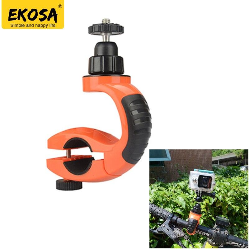 EKOSA Trépied Pour Téléphone D'action Caméra Support Vélo Moto Guidon Titulaire Tripode Pour GoPro Hero 5 3 4 SJ4000 SJCAM Xiaomi Yi 4 K