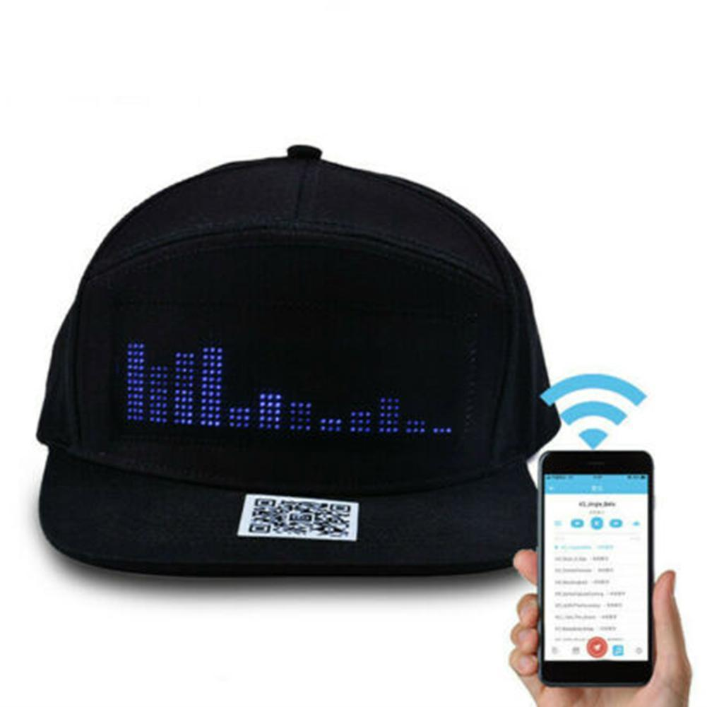 LED Message Hat with Scrolling Message and Bluetooth Used for Sports Dance and Party 7