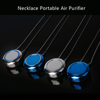 Personal Portable Wearable Necklace Air Cleaner Mini Air Purifier Negative Ionizer Ionic Air Purifier USB Rechargeable Refresher