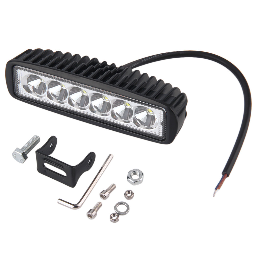 New 1620lm 12V 18W 6 LEDs Headlight Bar Car Spot Work Lamp Light For boating Car SUV Trailer Off Road hot selling