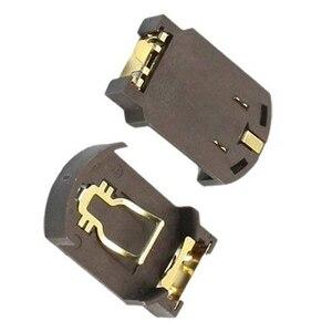 Image 3 - 10 x CR2032 פלסטיק כפתור תא סוללה בסיס מחזיק עבור SMD SMT קפה