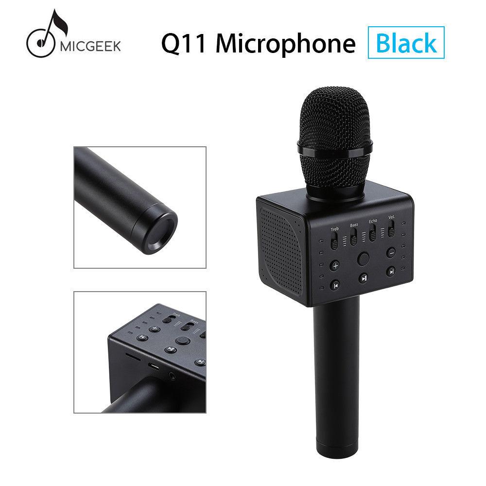 Micgeek Q11 Wireless Karaoke Microphone 5 Loudspeakers DSP Voice Changeable KTV Music Player Wireless Microphone Bluetooth