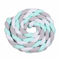 3M Length Nordic Knot Newborn Bumper Long Knotted Braid Pillow Baby Bed Bumper in the Crib Infant Room Decor