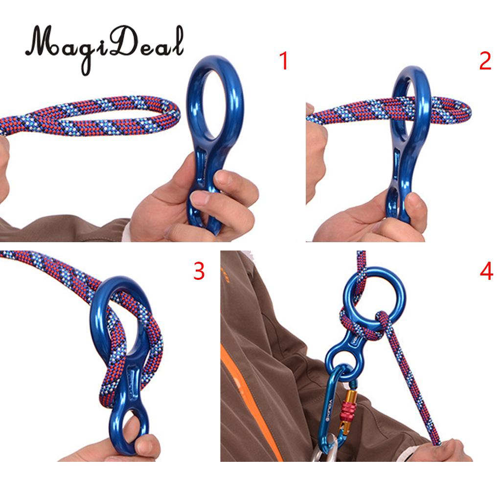 MagiDeal 35KN Figure 8 Climbing Rappelling Ring Belay + Self Braking Stop Descender clyde l dodgson l harwood d first buster preparation course for the cambridge english first fce for schools student s book with 3 practice tests 3cd