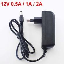100-240V AC к DC постоянного тока, адаптер питания зарядное устройство адаптер DC 5V 12V 1A 2A 3A 0.5A US EU Plug 5,5 мм x 2,5 мм для переключатель ленточная Светодиодная лампа