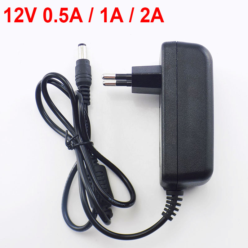 100-240V AC to <font><b>DC</b></font> Power Adapter Supply Charger <font><b>adaptor</b></font> 5V <font><b>12V</b></font> 1A 2A 3A 0.5A US EU Plug 5.5mm x 2.5mm for Switch LED Strip Lamp image